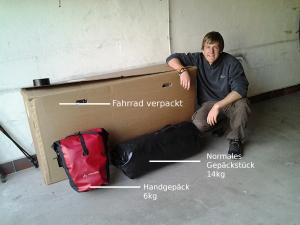 Gepäck vor Abflug